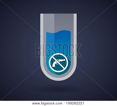 Chemical Test Tube With  A Gun  In A Not Allowed Signal