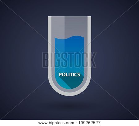 Chemical Test Tube With  The Text Politics
