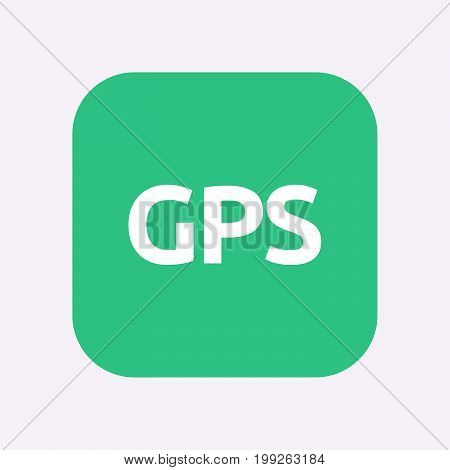Isolated Button With  The Global Positioning System Acronym Gps