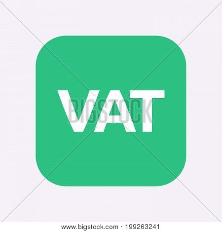 Isolated Button With  The Value Added Tax Acronym Vat