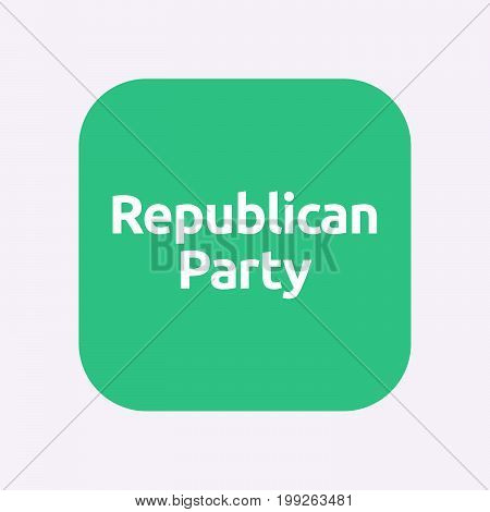 Isolated Button With  The Text  Republican  Party