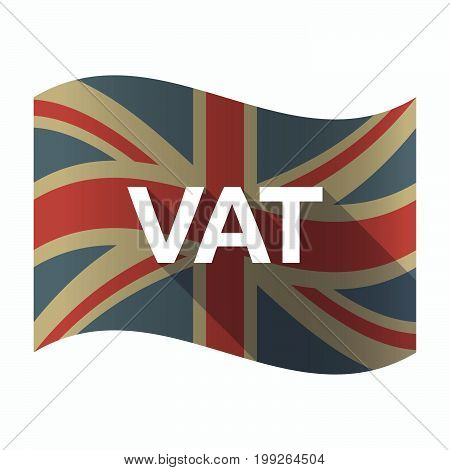 Isolated Uk Flag With  The Value Added Tax Acronym Vat