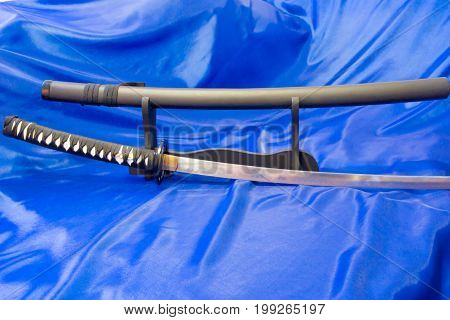 Japanese katana sword. The weapon of a samurai. A formidable weapon in the hands of a master of martial arts.