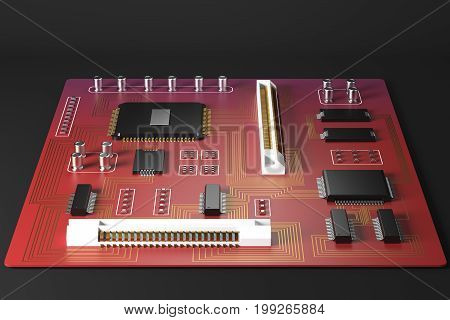 Red Motherboard Front