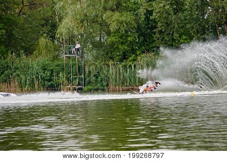 Woman Riding Wakeboard