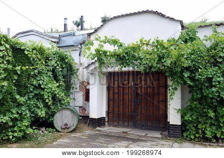 Wine cellar in southern Moravia, Czech republic