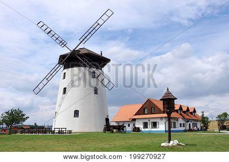 Windmill in Bukovany, southern Moravia, Czech republic