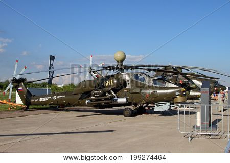 Moscow Region - July 21 2017: Shock Helicopter Mi-28