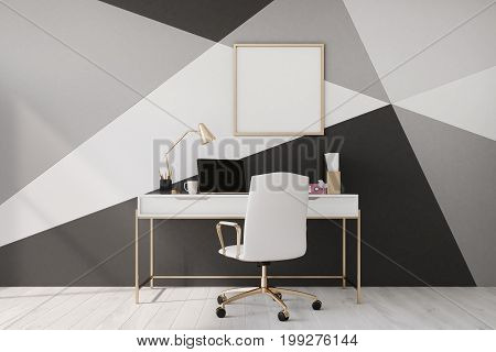 Black And White Home Office, Poster