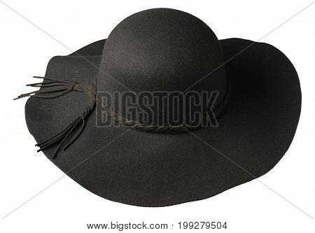Fedora Hat. Hat Isolated On White Background