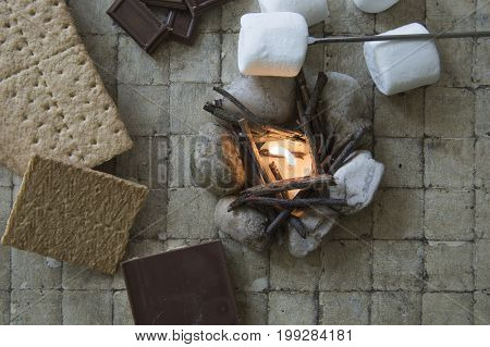 S'mores Deconstructed With Camp Fire