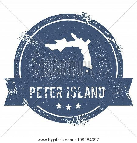 Peter Island Logo Sign. Travel Rubber Stamp With The Name And Map Of Island, Vector Illustration. Ca
