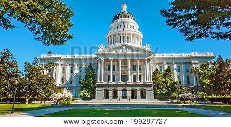 The California State Capitol in Sacramento USA