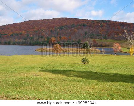 Colorful hills in Allegheny State Park  NY