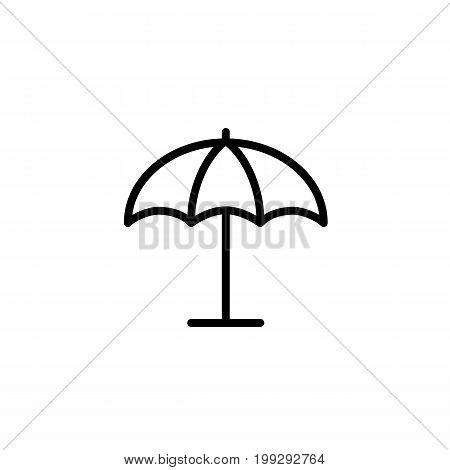 Parasol, Umbrella Icon Thin Line Black On White Background