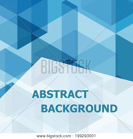 Abstract blue hexagon template background, stock vector