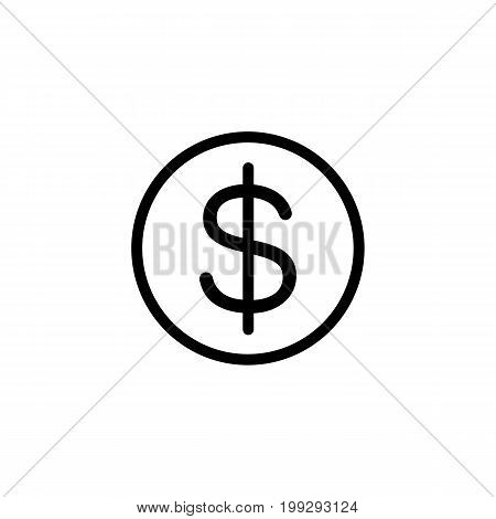 Line Coins Icon On White Background