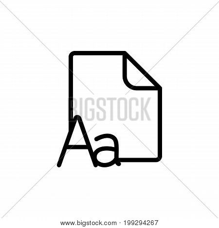Line Grammar, Letter File, Icon On White Background