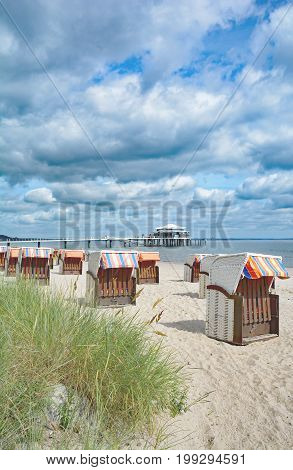 Beach of Timmendorfer Strand at baltic Sea,Schleswig-Holstein,Germany