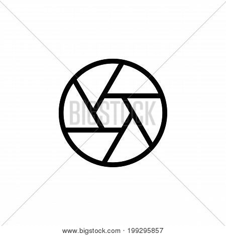 Line Aperture Diaphragm Icon On White Background