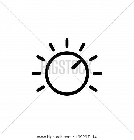 Line Knob Icon On White Background