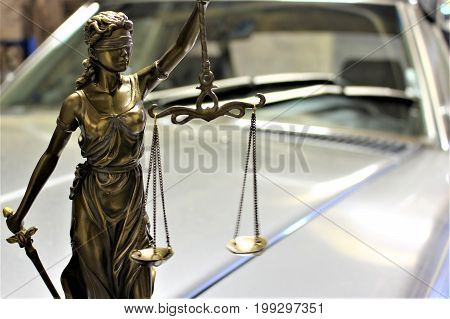 An image of justice - Justitia statue, symbol
