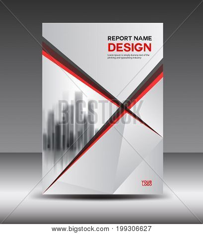 Red and white Cover design Annual report vector illustration booklet poster annual report template layout in a4 size polygon background
