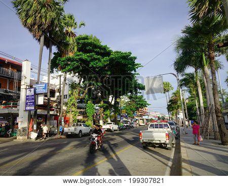 Street At Downtown In Bangkok, Thailand