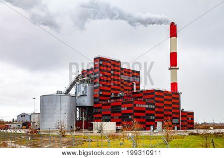Building the new thermal power station in Tallinn, Estonia