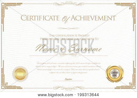 Certificate Or Diploma Retro Design Template 3.eps