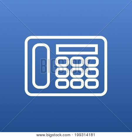 Vector Telephone Element In Trendy Style.  Isolated Phone Outline Symbol On Clean Background.