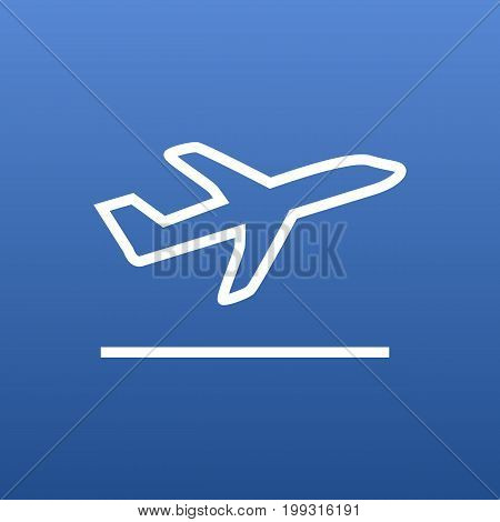 Vector Flight Element In Trendy Style.  Isolated Departure Outline Symbol On Clean Background.