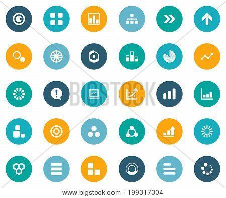 Elements Ejaculation, Line Bar, Variety And Other Synonyms Marketing, Graph And Increase.  Vector Illustration Set Of Simple  Icons.