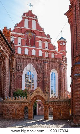 St. Anna's Church in Vilnius, Lithuania. Popular tourist place