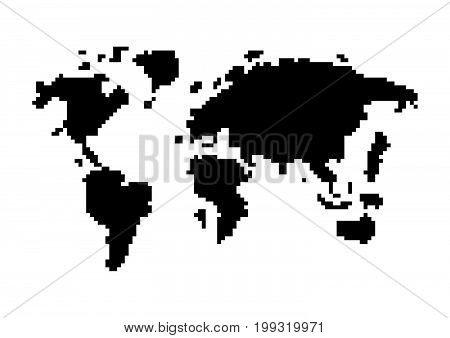 Abstract Pixel World Map