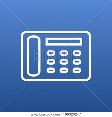 Vector Contacts Element In Trendy Style.  Isolated Telephone Outline Symbol On Clean Background.