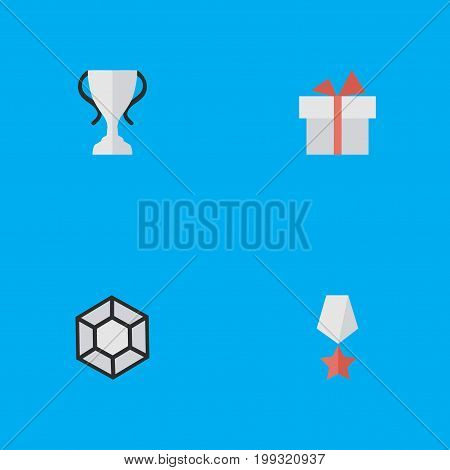 Elements Premium, Champion, Brilliant And Other Synonyms Star, Prize And Diamond.  Vector Illustration Set Of Simple Prize Icons.