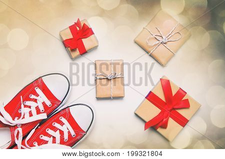 Big Red Gumshoes And Beautiful Gifts