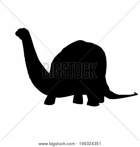 Vector - Apatosaurus Line Drawing Sketch Silhouette