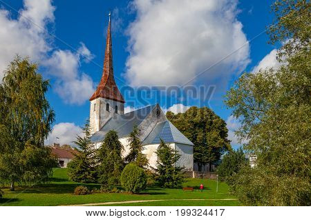 St. Trinity Church in Rakvere, Estonia. Green summer time