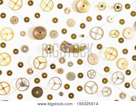 Pattern From Various Used Watch Spare Parts