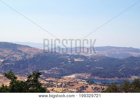 View from the top of Troodos Mountain in Cyprus.