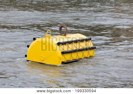 Mooring buoy in River Thames London England