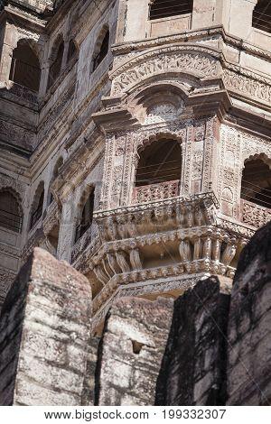 Mehrangarh Fort in Jodhpur Rjasthan in India