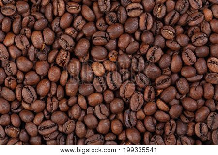 Texture of Kenya AA coffee gourmet coffee. Hi res photo.