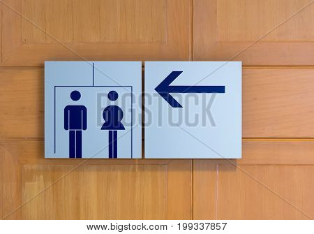 Toilet or restroom sign for men and women