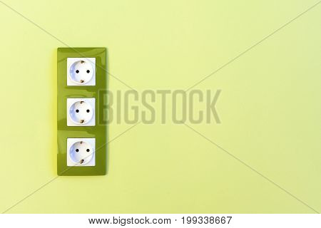 Euro Green Electric Sockets