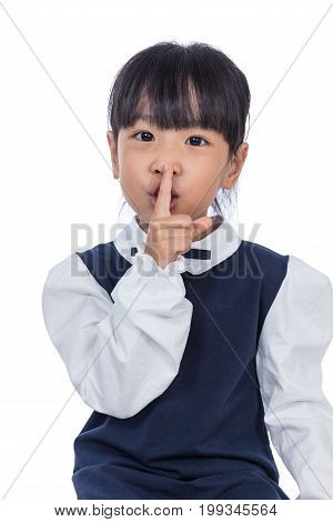 Asian Little Chinese Girl Asking For Silence