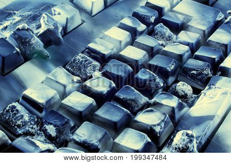 Close Up of a Burnt Computer Keyboard