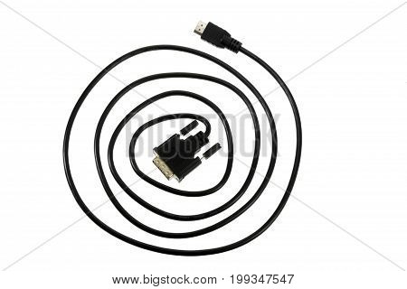 Computer Cable on an Isolated White Background